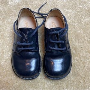 Gallucci Boys Patent Leather Derby Shoes Size 22